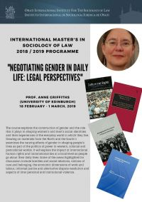 Anne Griffiths: Negotiating Gender in Daily Life: Legal Perspectives.