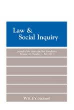 Law & Social Inquiry 42 (4)