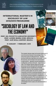 Sol Picciotto, Lucero Ibarra and Iage Miola: Sociology of Law and the Economy.