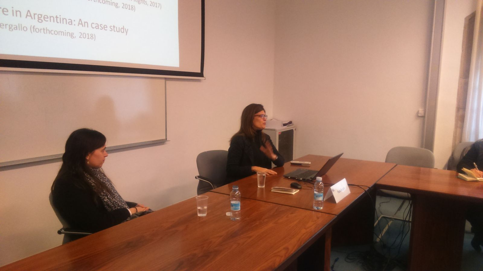 Paola Bergallo, during her presentation.