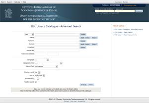 IISL Library online catalog