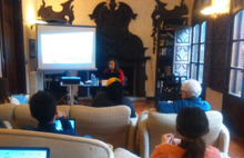 Cecilia Hopp, during her presentation at Antia palace.