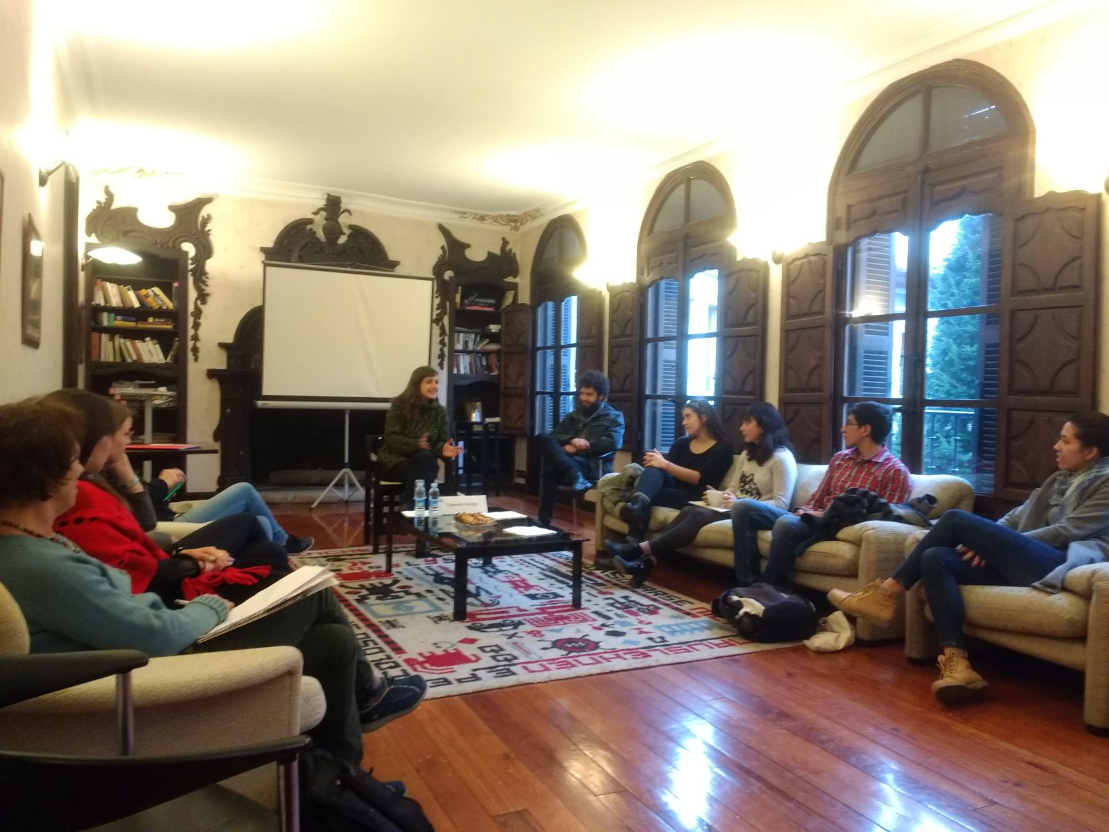 Fiammetta Bonfigli gave a presentation about social movements in Brazil.