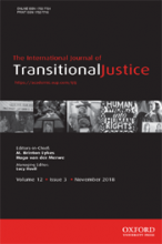 International Journal of Transitional Justice, 12(3)