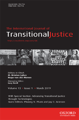 International Journal of Transitional Justice, 13(1)