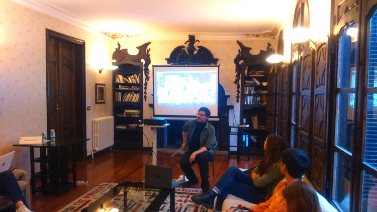 Tomas Ledvinka, during his open talk at Antia Palace.