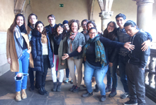 The master's students, with Ruth Mestre.