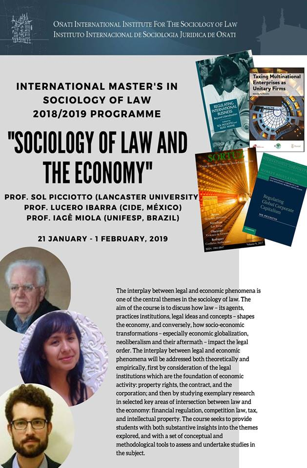 Course on Sociology of Law and the Economy