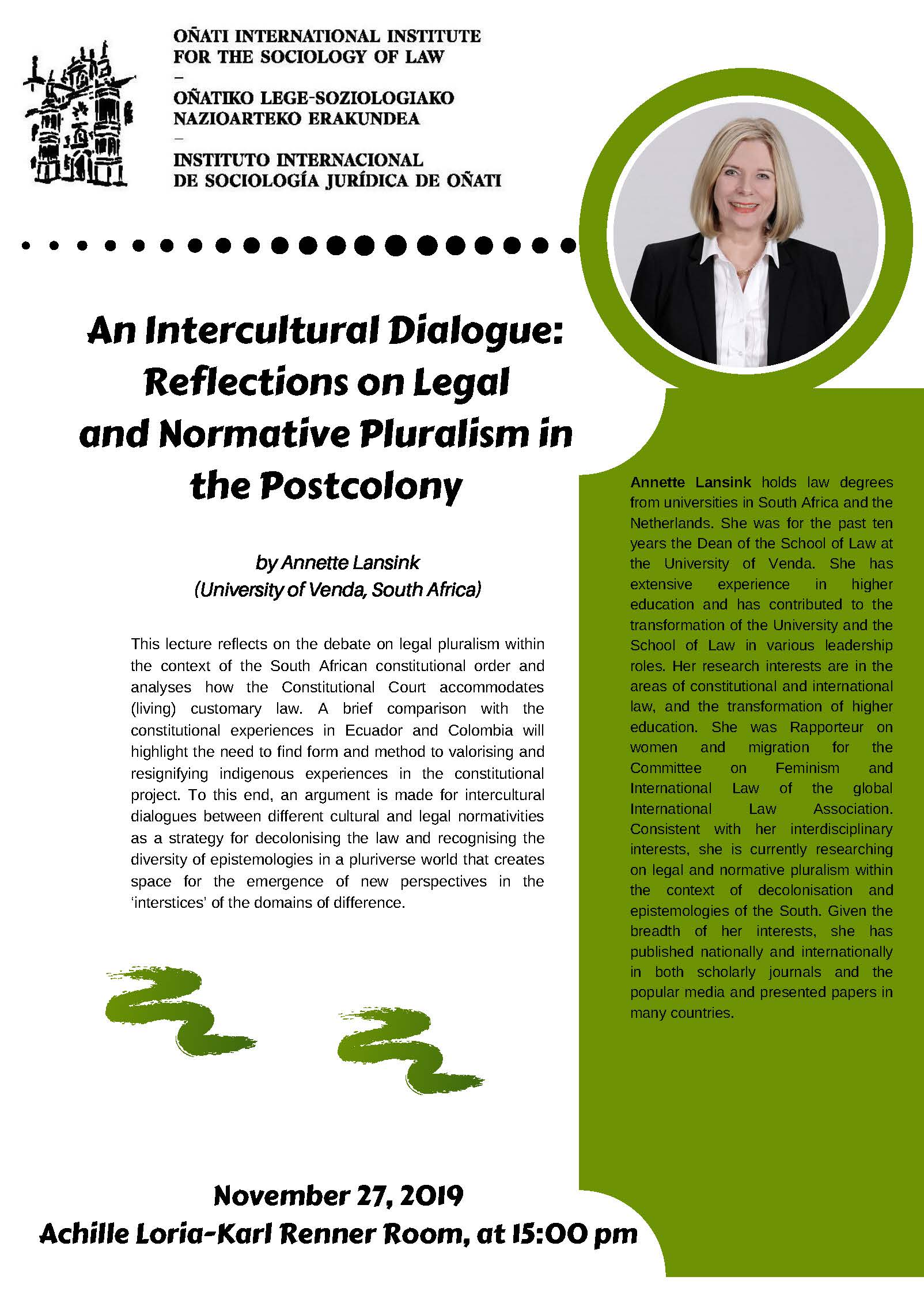 Annette Lansink will give a lecture.