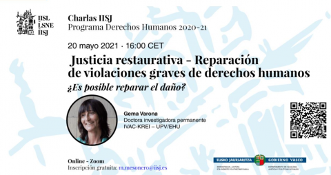 Poster de la charla de Gema Varona.