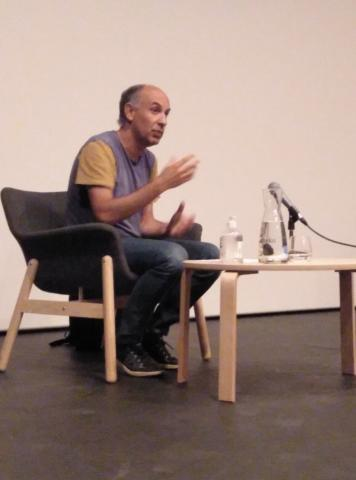 Ignacio Mendiola, durante la charla.
