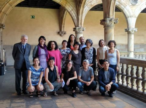 The workshop participants, with Vincenzo Ferrari.