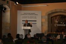 Tomás Arrieta (Pte. Consejo Vasco de Relaciones Laborales), durante la clausura