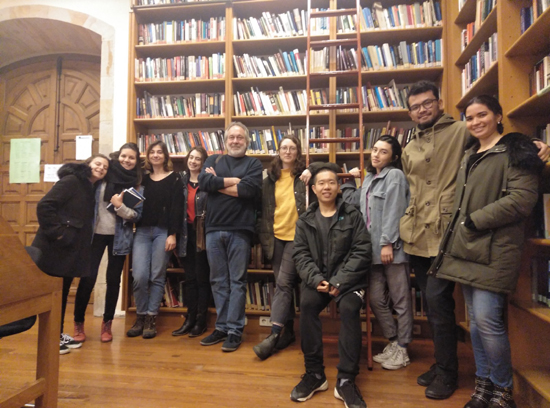 The students, with Trevor Purvis.